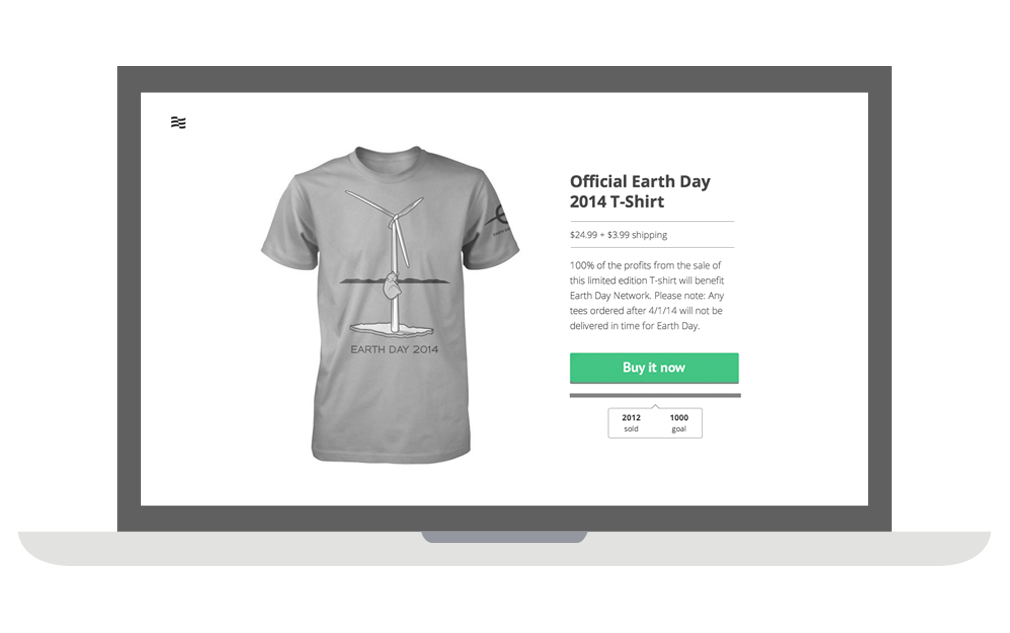 Example t-shirt campaign on Represent