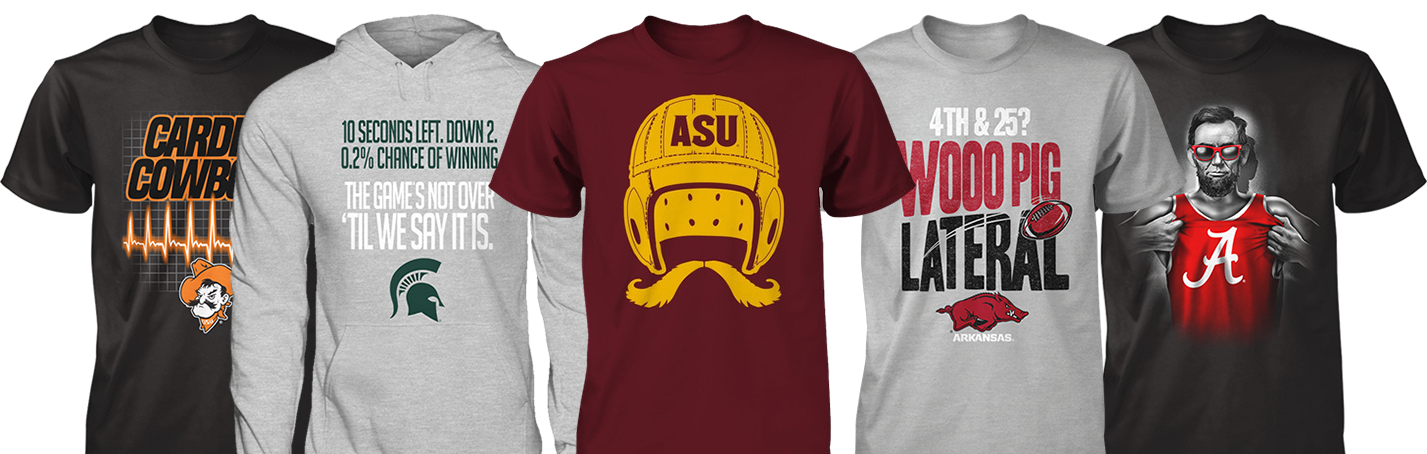 Represent officially licensed collegiate products